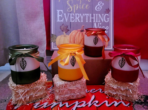 Elegant scented soy wax candles