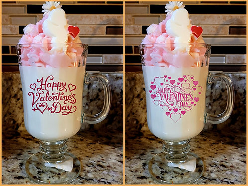 Valentine dessert theme scented soy wax candles