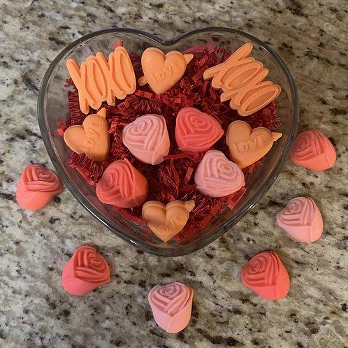 Valentine wax melts giftset