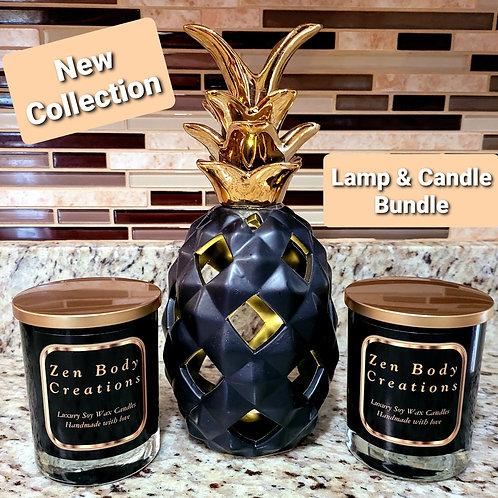 Pineapple lamp & candle bundle