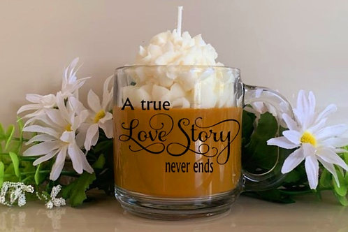 Starbucks theme scented soy wax candle mugs