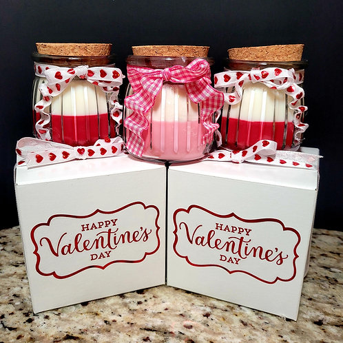 Valentine collection scented soy wax candles