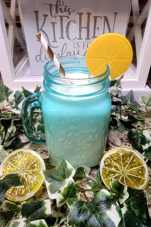 Lemonade theme scented soy wax candle