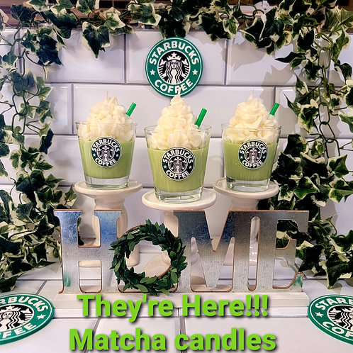 Starbucks Matcha theme scented soy wax candles