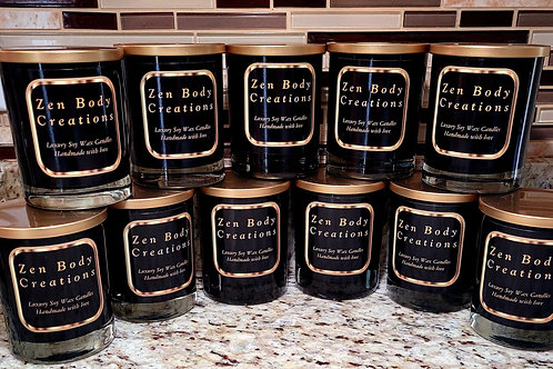 Luxe scented soy wax candles