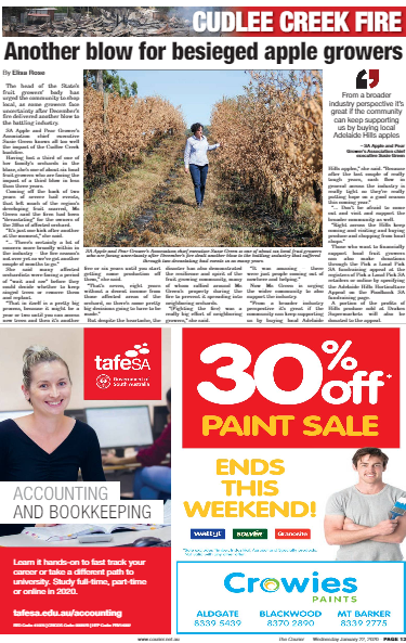 Another blow for besieged apple growers