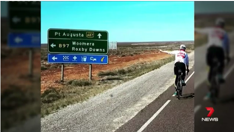 Channel 7 - Todd Sloan 3000km Bike Ride.