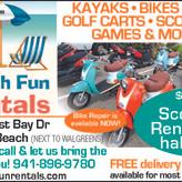 Get Your Beach Fun Rental at AMI Rentals