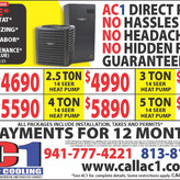 Call AC1 Today. FREE Thermostat, 1st Year Maintenance, Duct Sanitizing + First Year Labor.