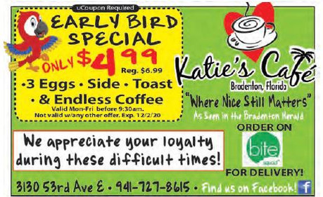Come to Katie's Café...where nice still matters!