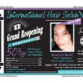 International Hair Salon - Grand Reopening Specials - WOW 50% Off Haircuts, Colors & Perms!