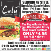 NY Style Breakfast Sandwiches & Comfort Food @ Calu