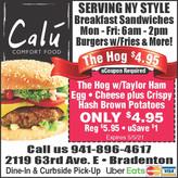 NY Style Breakfast Sandwiches & Comfort Food @ Calu