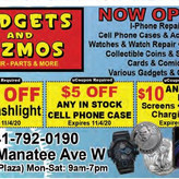 Gadgets and Gizmos has Repairs, Parts and More