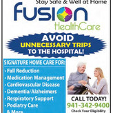 Stay safe and well at home with Fusion Healthcare