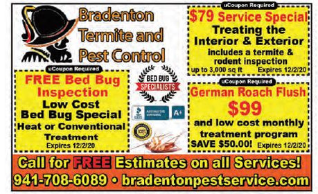 Got pests? Let Bradenton Pest Control reclaim your home or business from unwanted pests