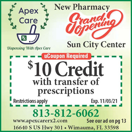 Apex Care - NEW Pharmacy - Transfer Your Prescriptions Today and Start Saving!