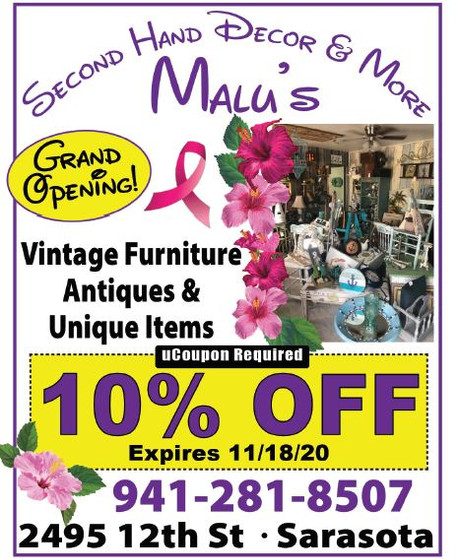 Malu's Second Hand Decor & More is the place to shop for vintage and more!
