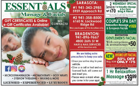 Couple's Spa Day only $169, the PERFECT gift at Essentials Massage & Facials!
