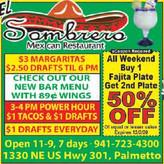 El Sombrero in Palmetto has the Authentic Taste of Mexico!