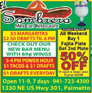 El Sombrero in Palmetto has the Authentic Taste of Mexico!