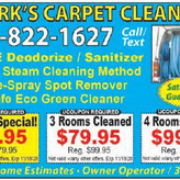 Clark's Carpet, FREE Deodorize and Sanitize!