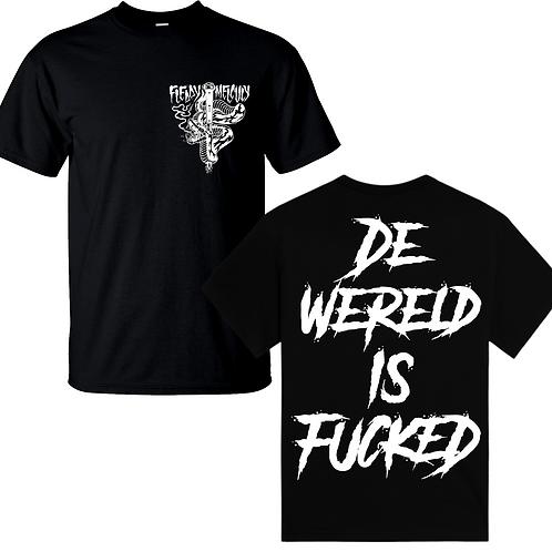 'De wereld is fucked' T-shirt
