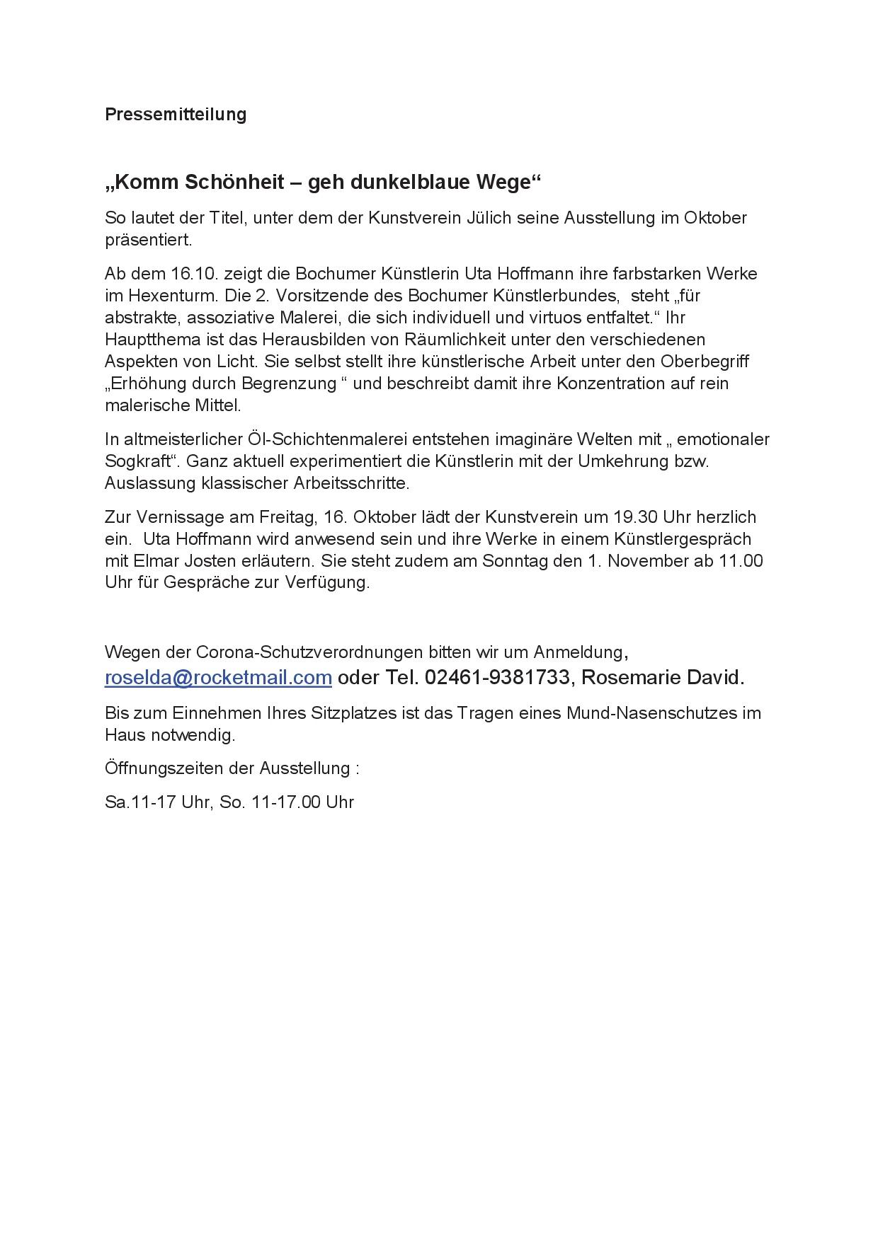 Pressemitteilung Hoffmann