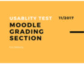 Moodle Usability Research