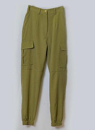 Pantalón cargo verde adaptable 36 a 40