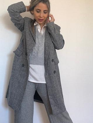 Vest Tejido gris sin mangas