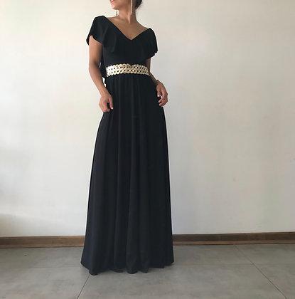 Vestido volado negro