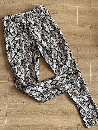 Pantalón snake Blanco negro