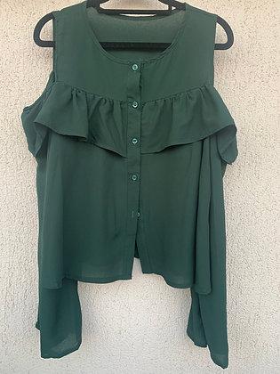 Blusa sin hombros verde