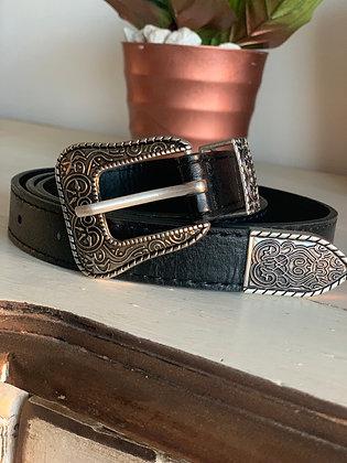 Cinturón bohemia negro