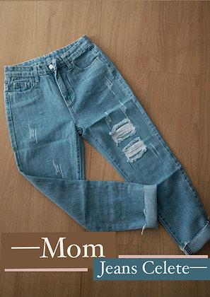 Mom Jeans celeste