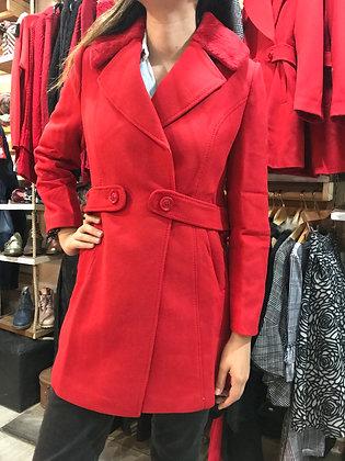 Abrigo rojo Tallas M