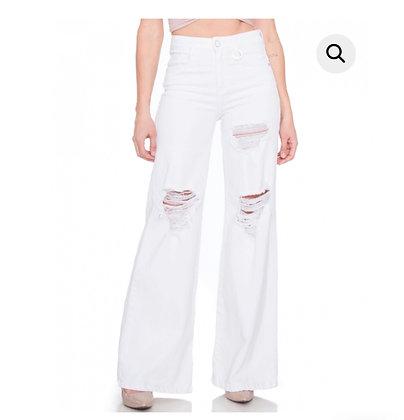 Jeans Palazzo blanco