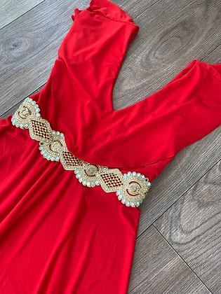 Vestido Rojo vuelo gitano