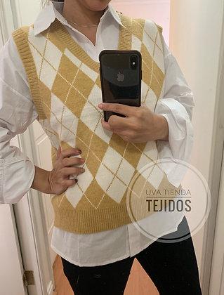 Vest Rombos amarillo