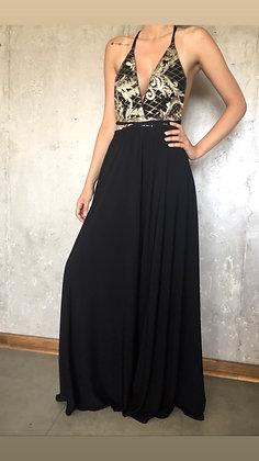 Vestido Negro Escotado sin espalda