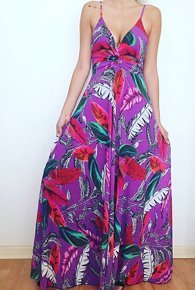 Vestido morado flores