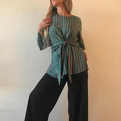 Blusa verde rayas