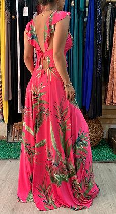 Vestido Fucsia Floral