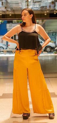 Pantalón volado amarillo