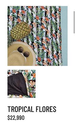Pareo toalla tropical flores