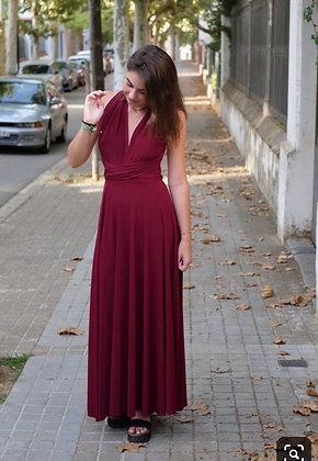 Vestido Multiforma Burdeo