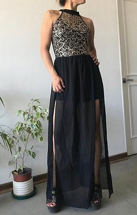 Vestido Tajos Doré (S/M)