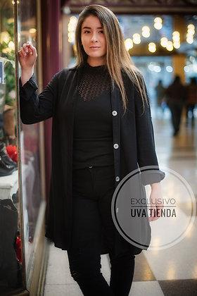 Blusón negro largo negro  (tallas únicas oversized)