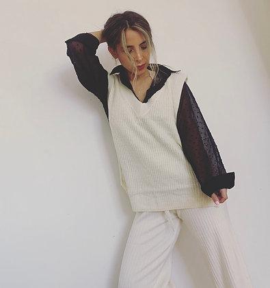 Vest blanco largo